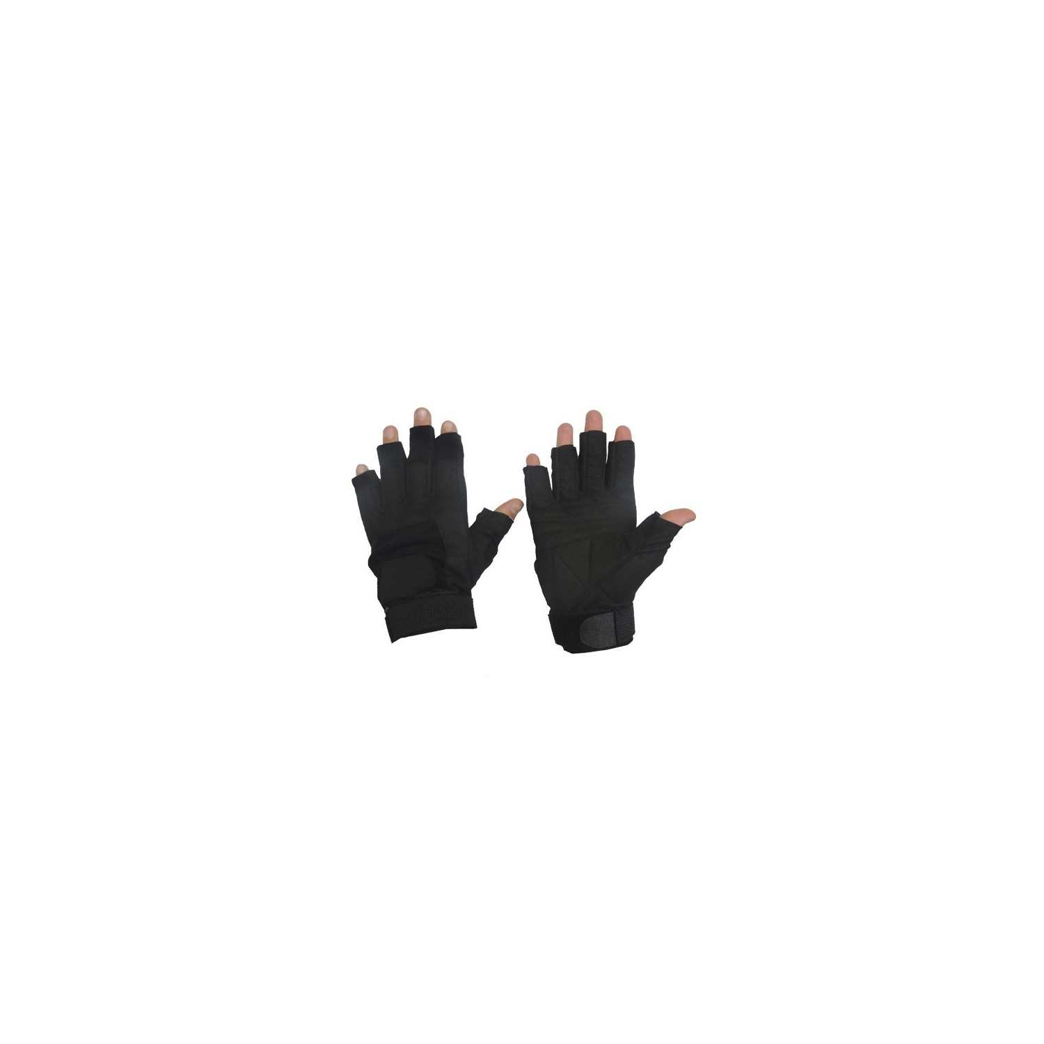 SHORT FINGER SOS GLOVE BLACK